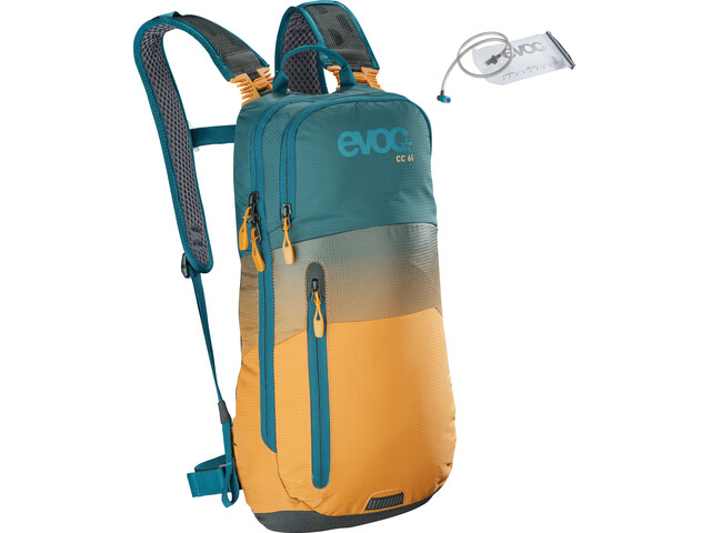 EVOC CC Rygsæk 6l + Bladder 2l gul/petroleumsgrøn (2019) | Travel bags